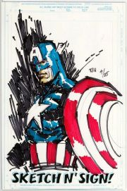 Call Of Duty #1 Jay Company Originals Sketch N Sign Keu Cha Remarked Captain America COA #4